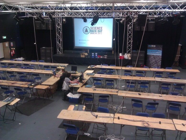 The venue before the day starts